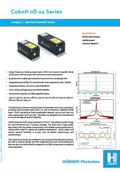 Cobolt 08-01 Series - HBNER Photonics - Lasers & THz systems