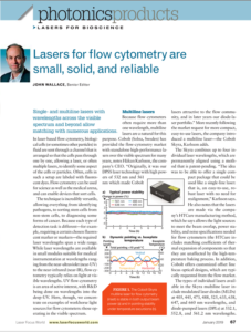 Multi line lasers for flow cytometry