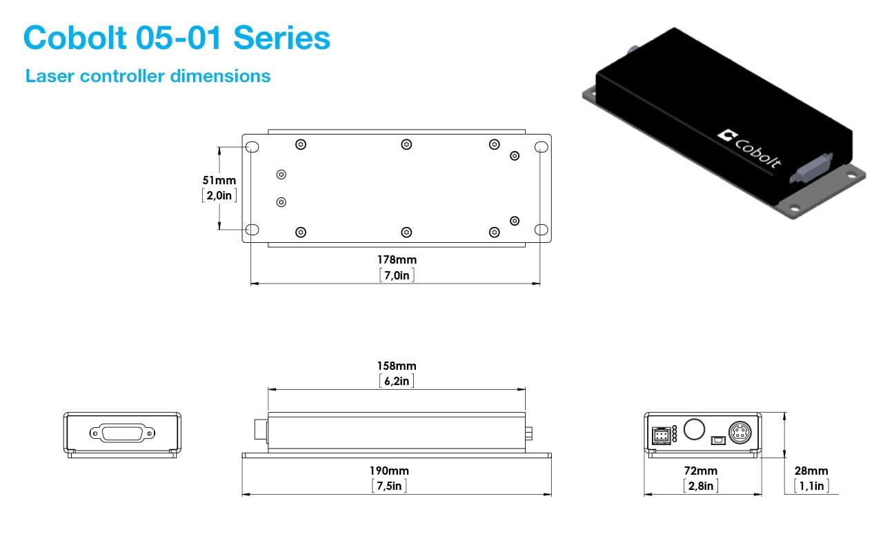 Cobolt 05-01 DPSS Laser Controller
