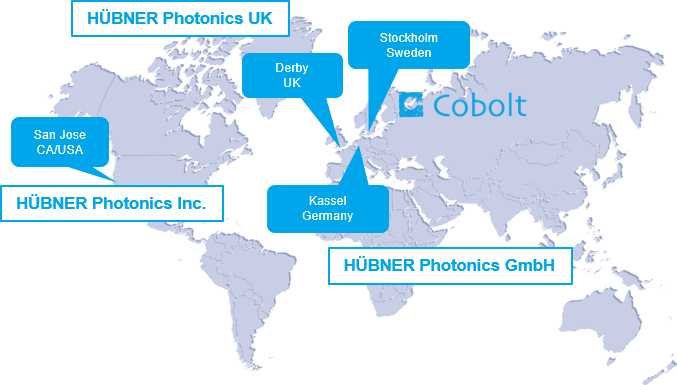 HÜBNER Photonics global locations