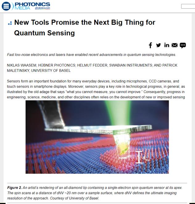 Quantum sensing editorial