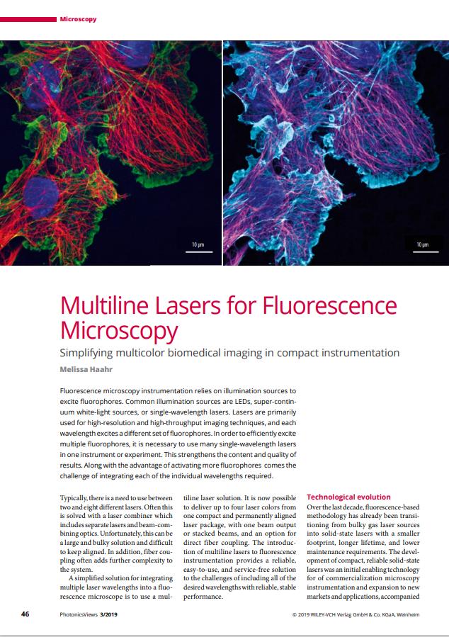 lasers fluorescence microscopy